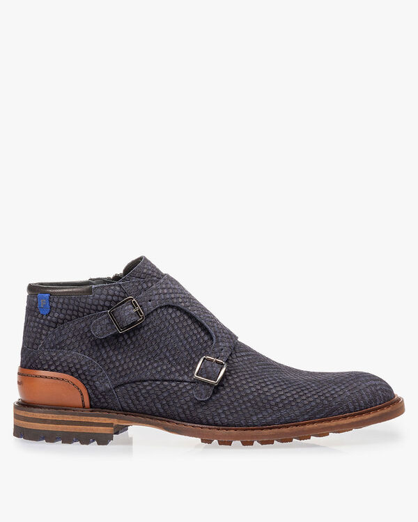 Boot blue with buckle