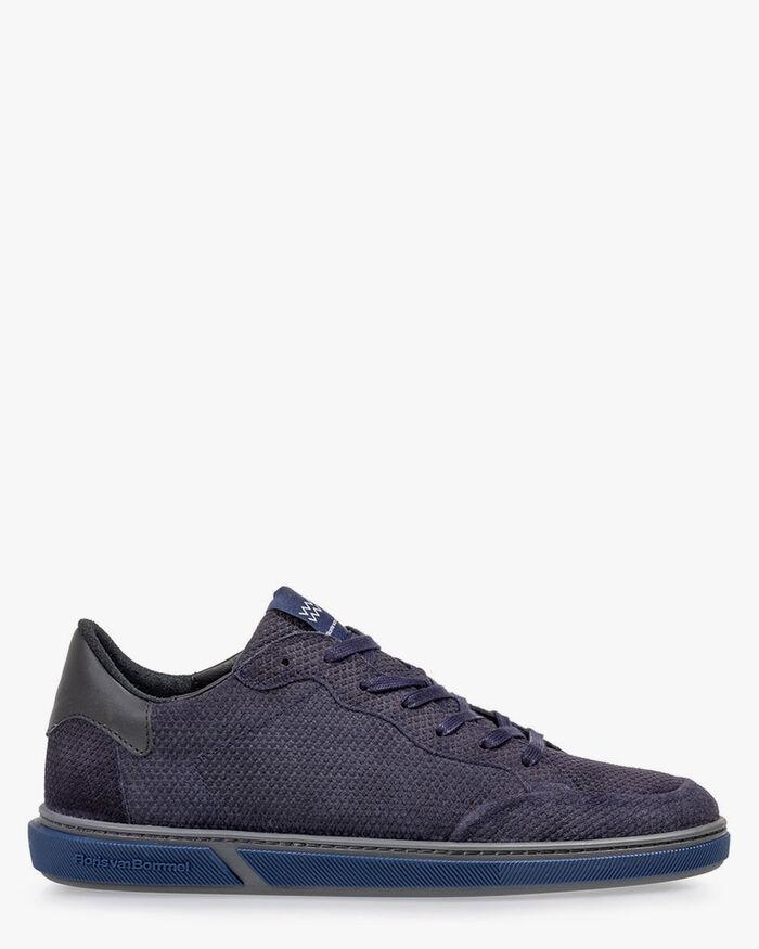 Sneaker leather dark blue