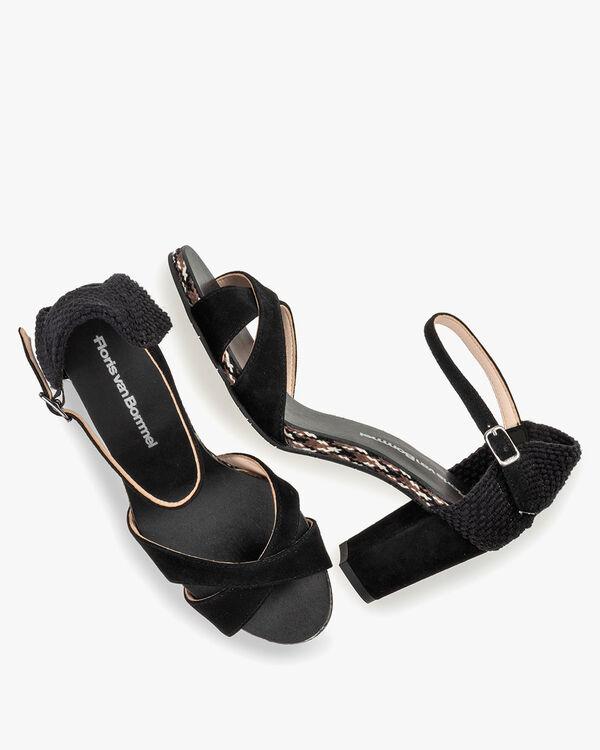Sandale Wildleder schwarz