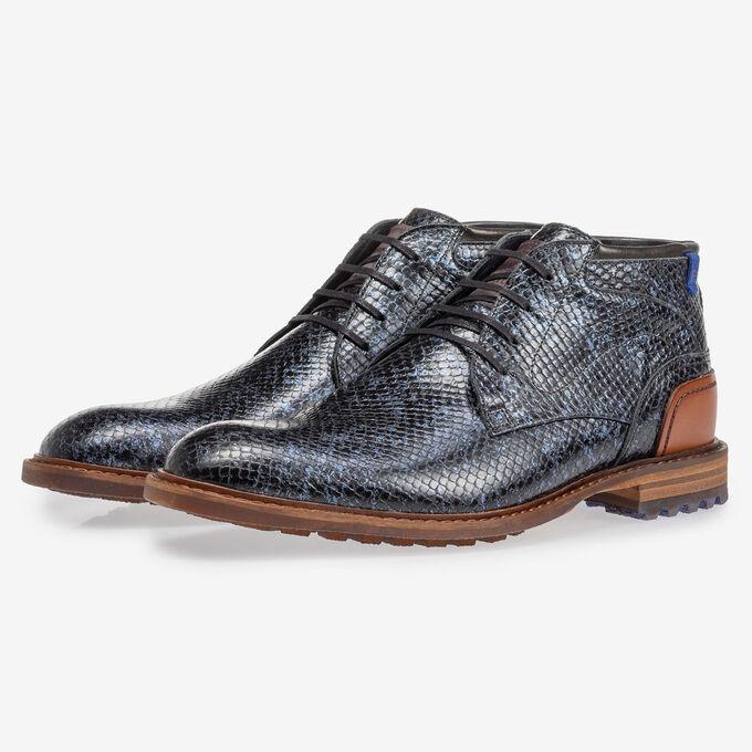 Crepi boot metallic blue
