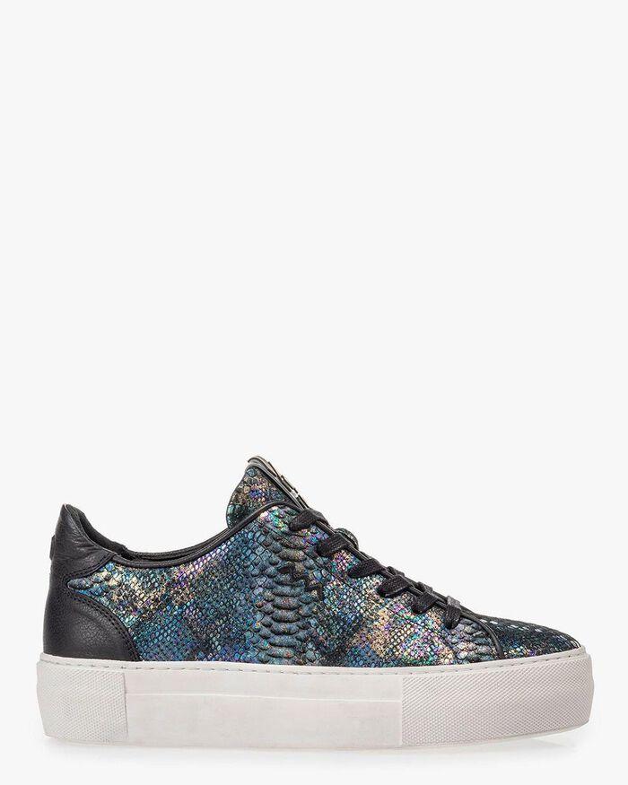 Sneaker snake print multi-colour