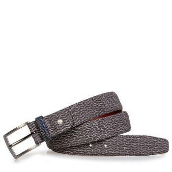 Belt nubuck leather taupe
