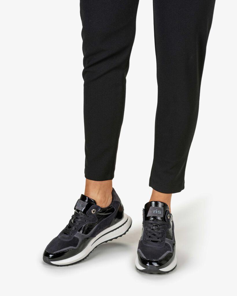 Sneaker Lackleder schwarz