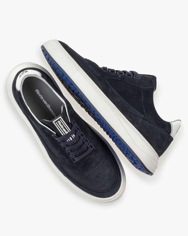 Sneaker suede leather dark blue