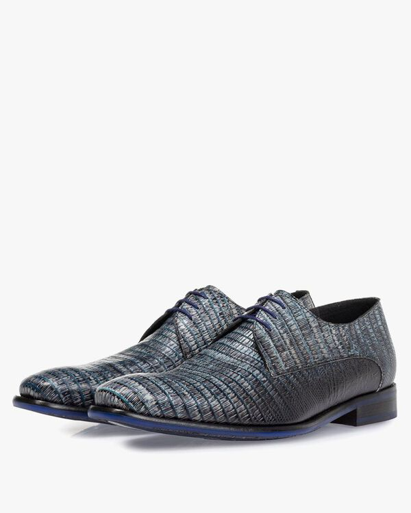 Lace shoe with print grey