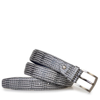 Belt metallic with print grey