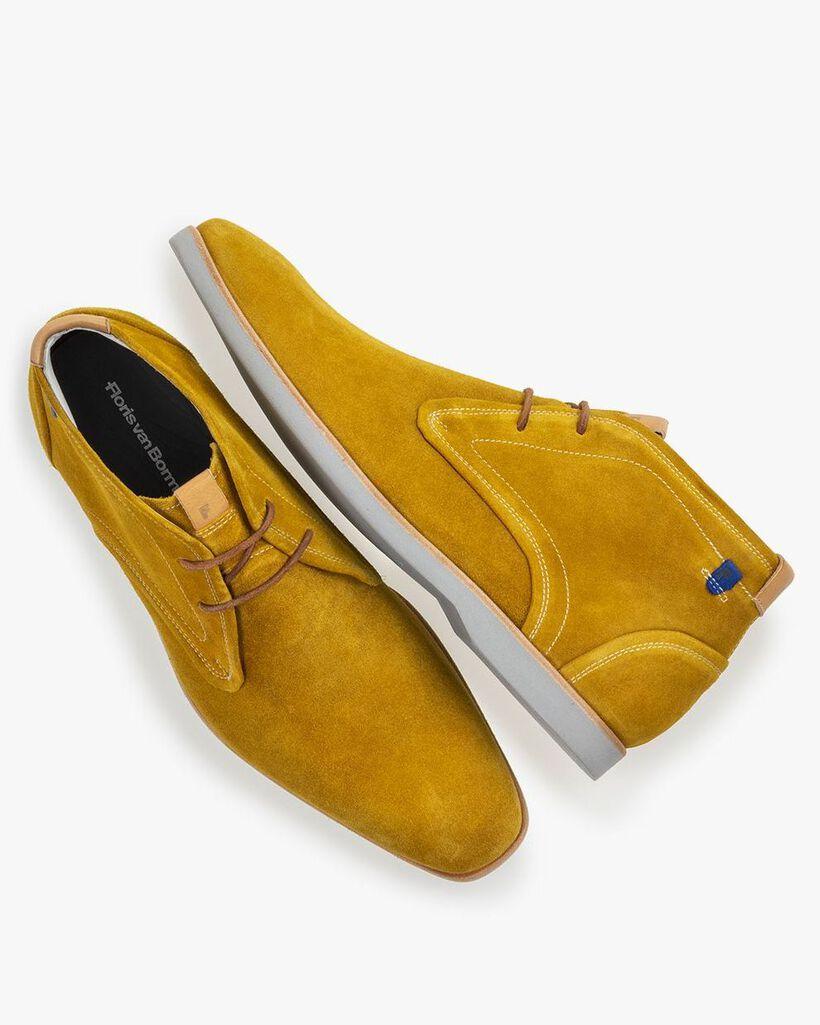 Stiefel Wildleder gelb
