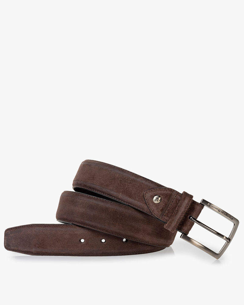 Belt suede dark brown