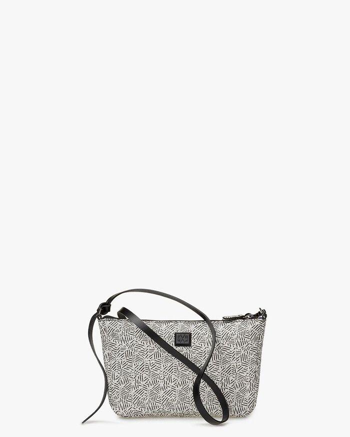 Crossbody-Tasche schwarz-weiß