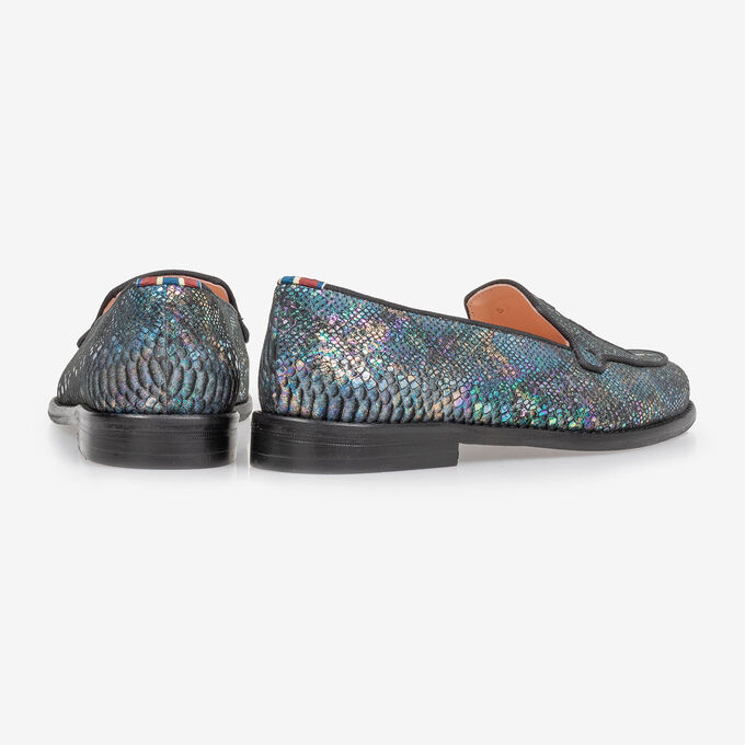 Loafer multi-colour snake print