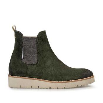 Chelsea Boot Wildleder grün