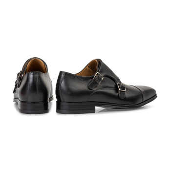Monk-Schnallenschuh Kalbsleder schwarz