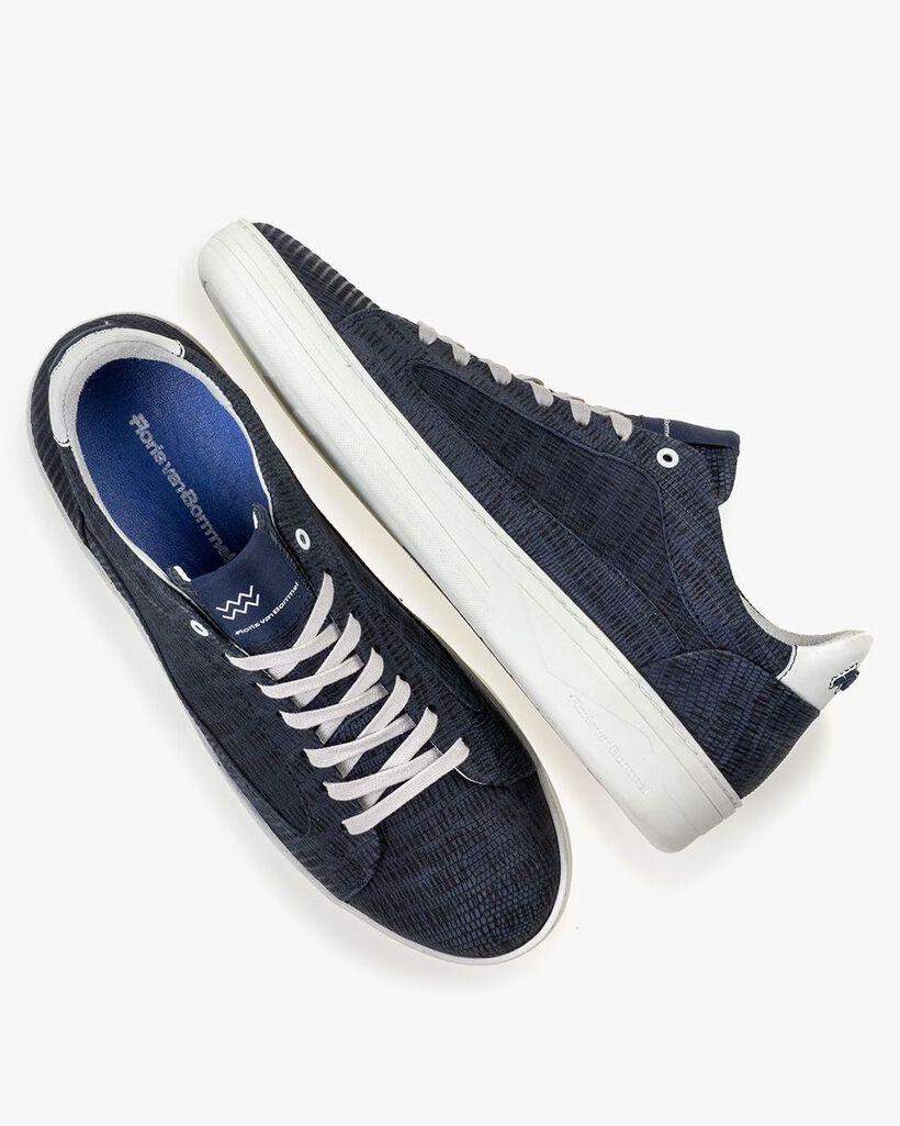 Sneaker mit Print dunkelblau
