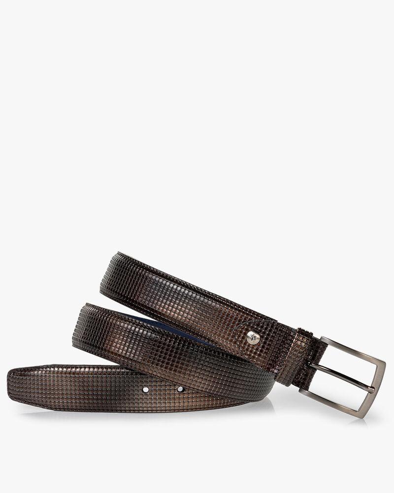 Belt patent leather bronze
