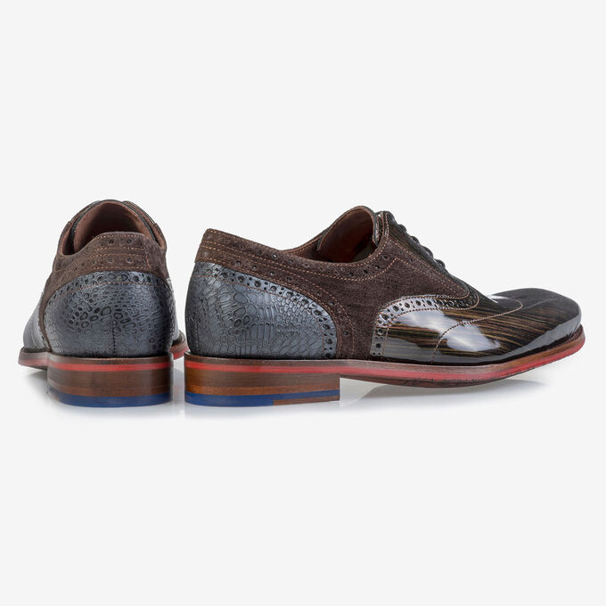 Brogue Lackleder bronzefarben