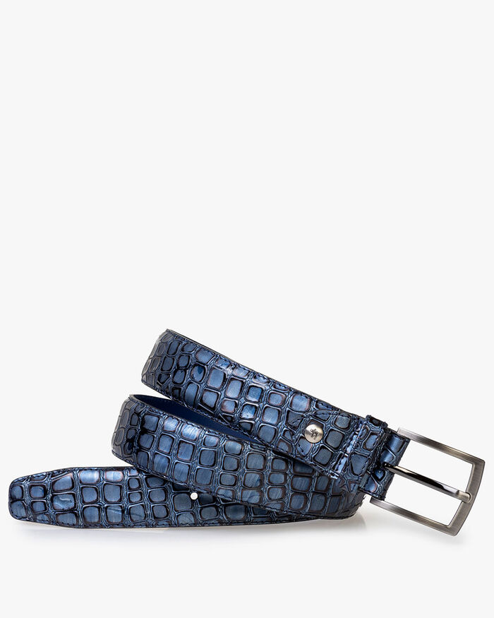 Belt metallic blue