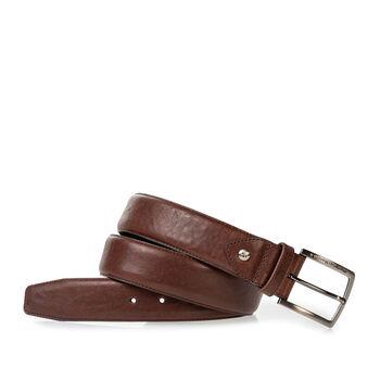 Belt leather dark cognac