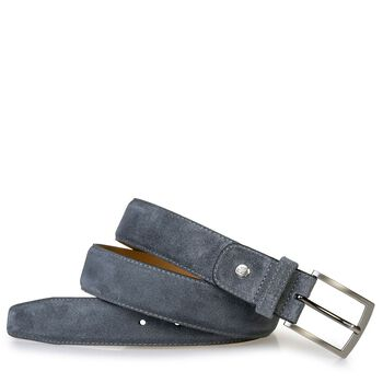 Belt grey suede leather