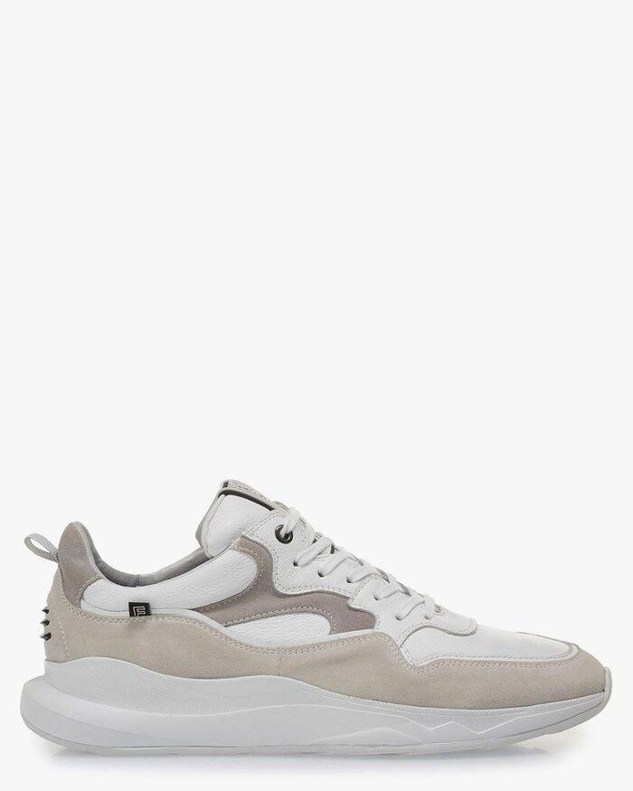 Weißer Sneaker Wildleder