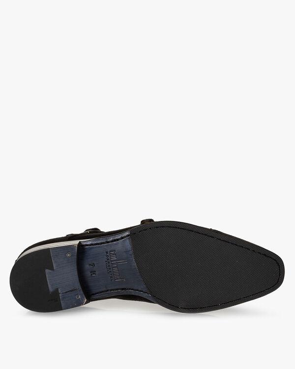 Monk strap suede black