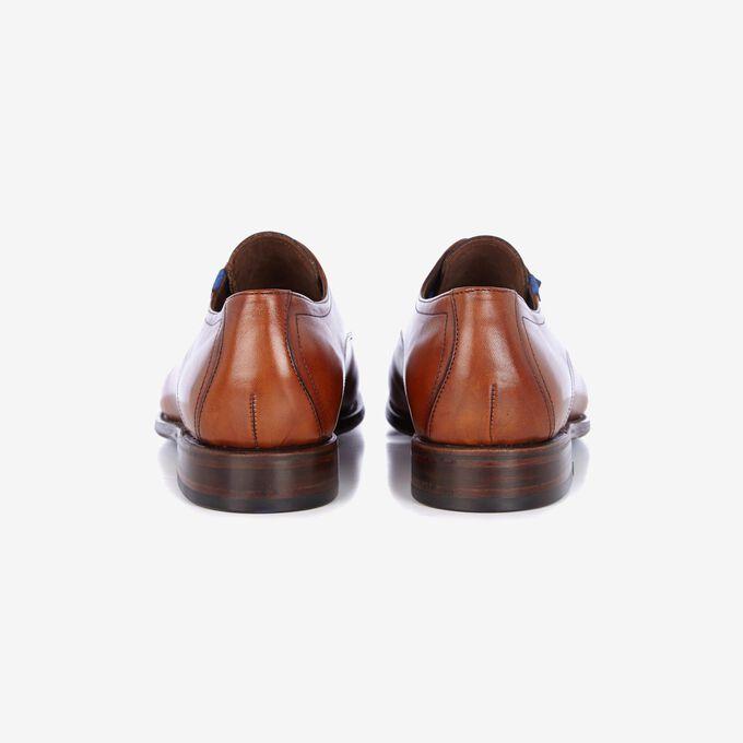 Cognacfarbener Leder Schnürschuh