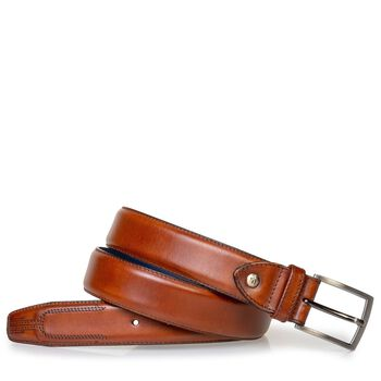 Belt cognac calf leather
