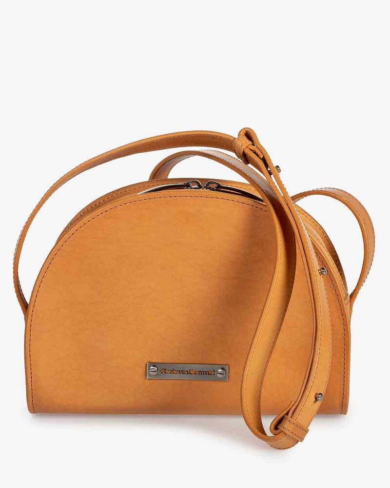 Cross body bag calf leather natural-coloured