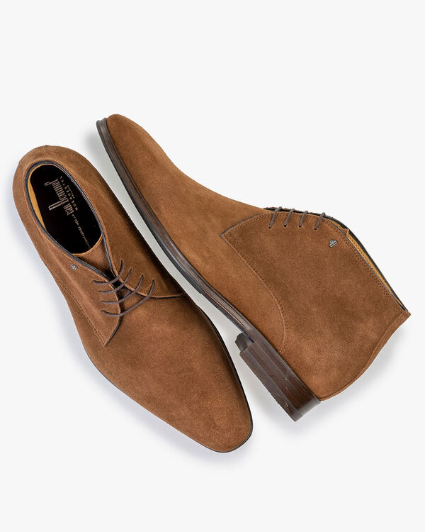 Lace boot suede brown