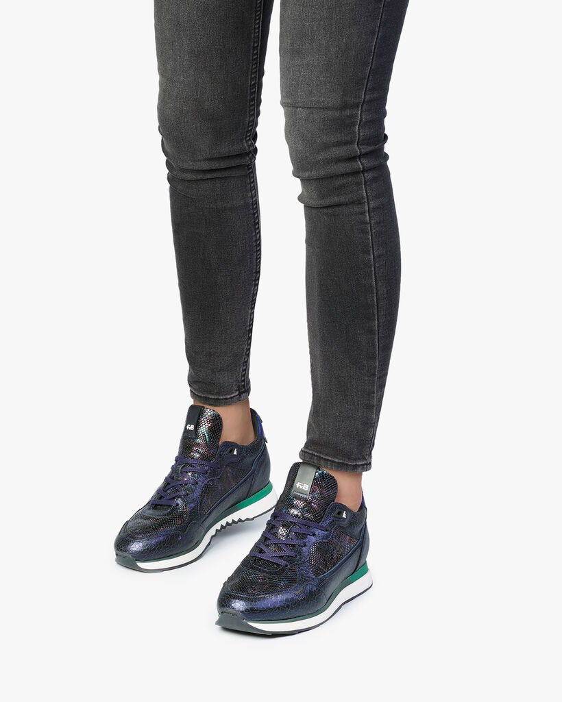 Sneaker dunkelblau Leder