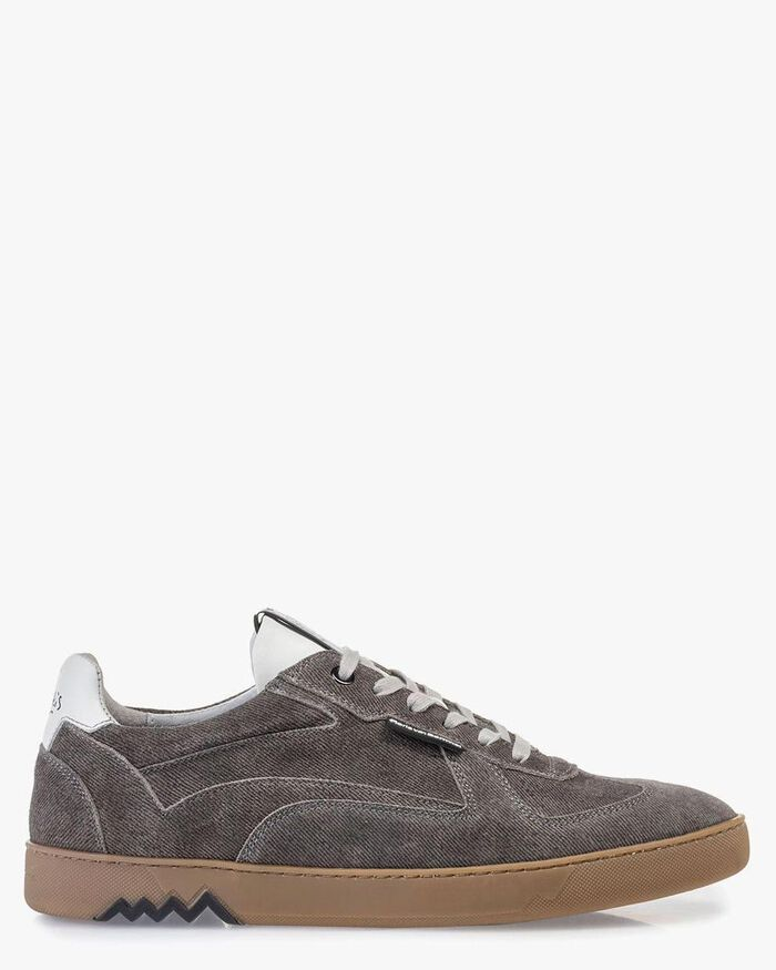 Sneaker grau Wildleder