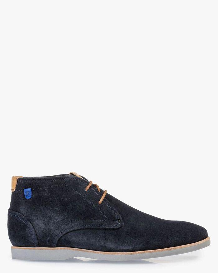Stiefel Wildleder blau