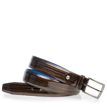 Belt bronze patent leather