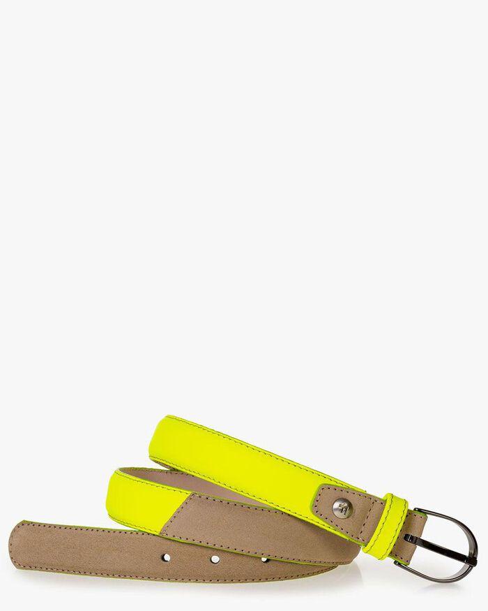 Belt suede leather beige