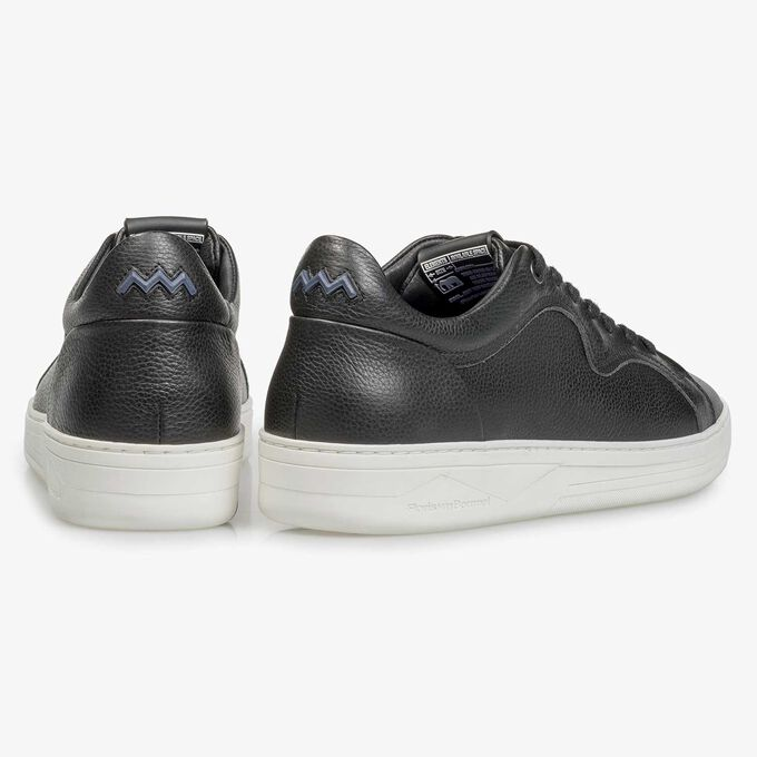 Premium black calf leather sneaker