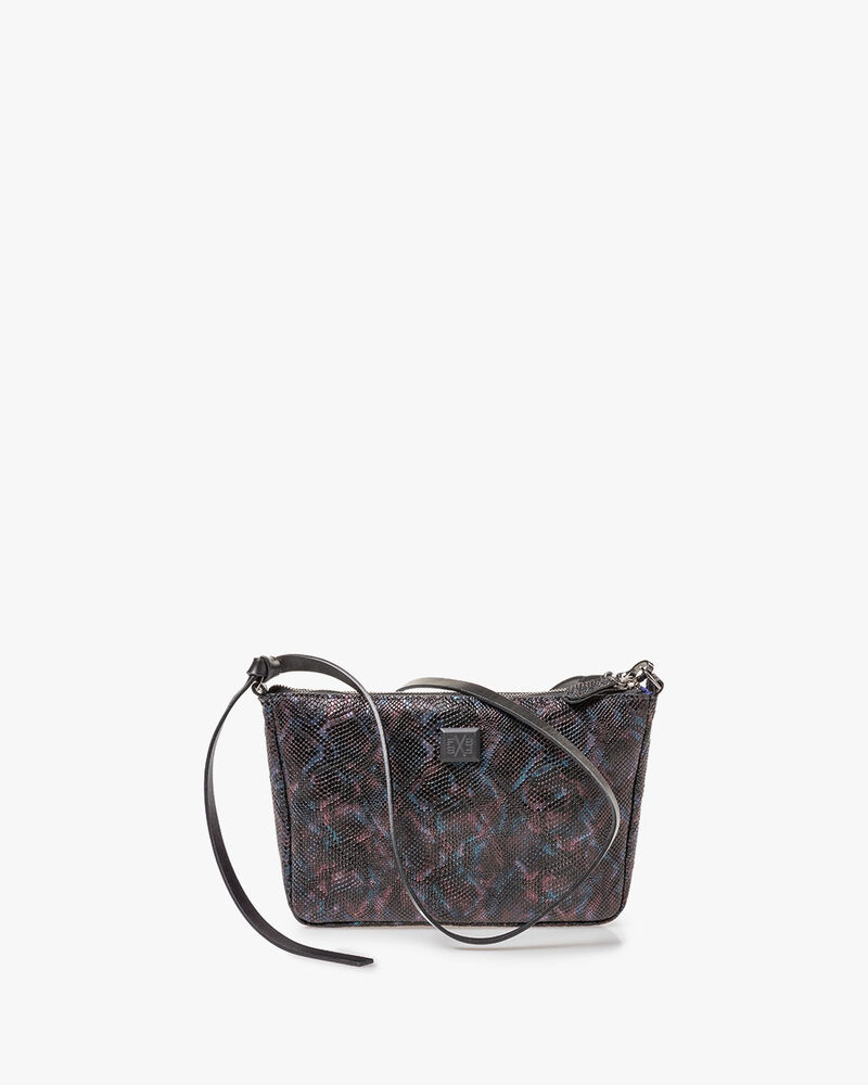 Bag croco print blue