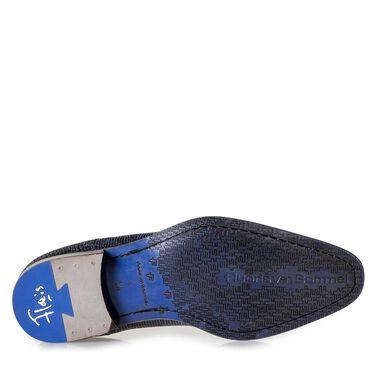 Schwarzer Premium-Schnürschuh mit Metallicprint