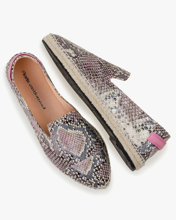Espadrille printed leather pink