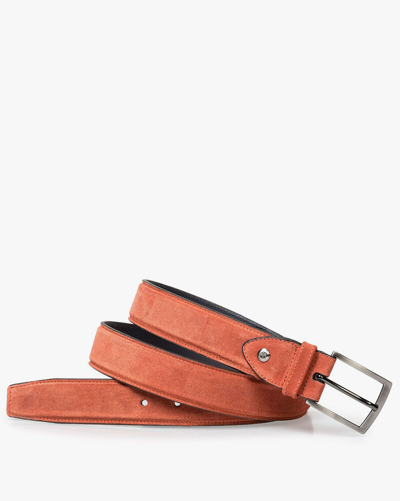 Belt suede leather orange