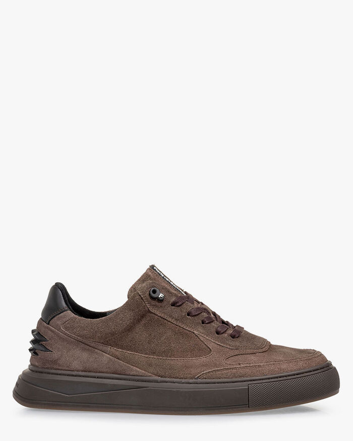 Sneaker suede sand-coloured