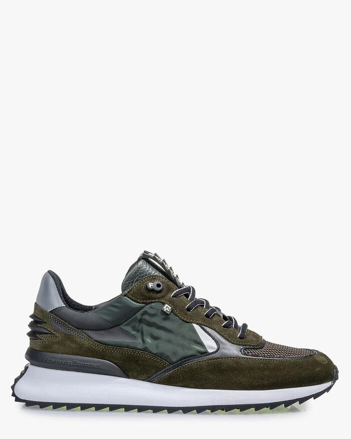 Sharki Sneaker Wildleder dunkelgrün