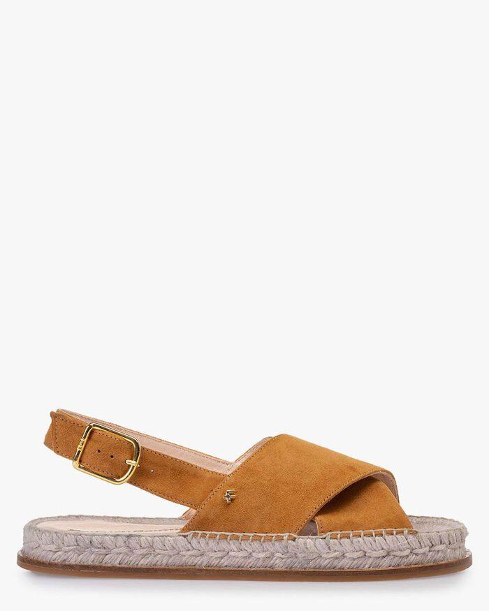 Sandale Wildleder cognacfarben