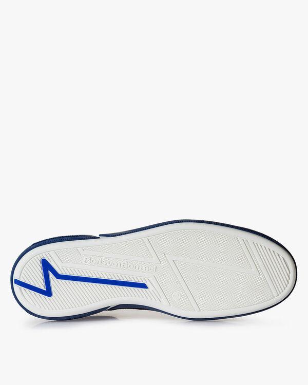 Blauer Wildleder-Schnürschuh