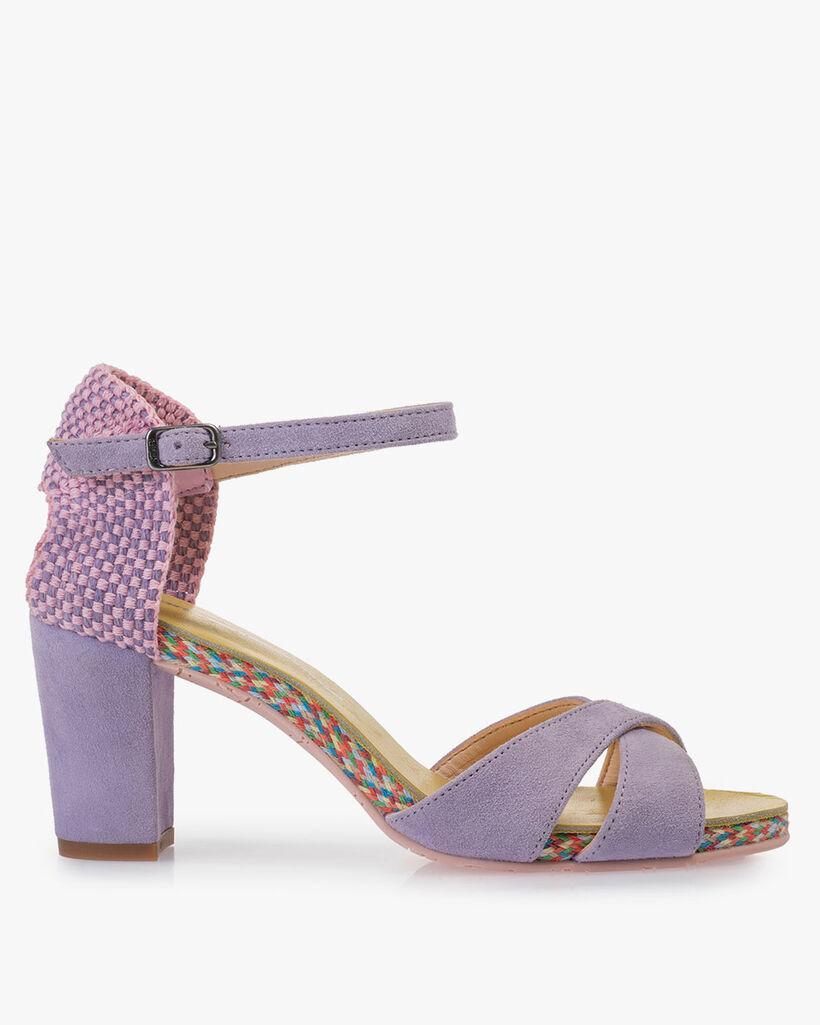 Sandale Wildleder violett