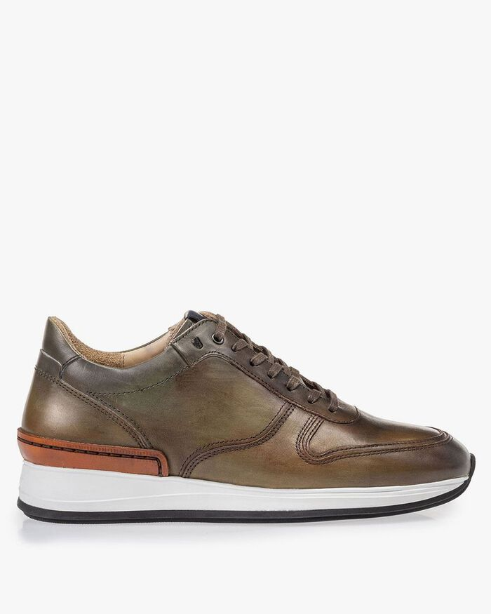 Sneaker calf leather green
