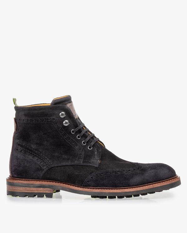 Stiefel schwarz Wildleder