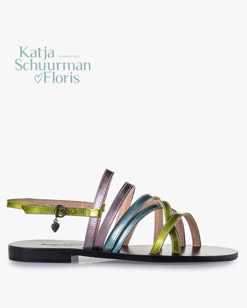 Sandale Lackleder grün