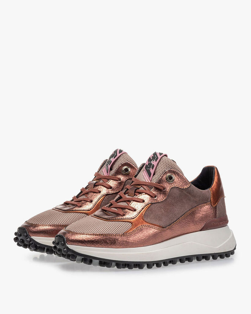 Noppi Sneaker rosa Leder