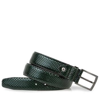 Gürtel bedrucktes Leder grün