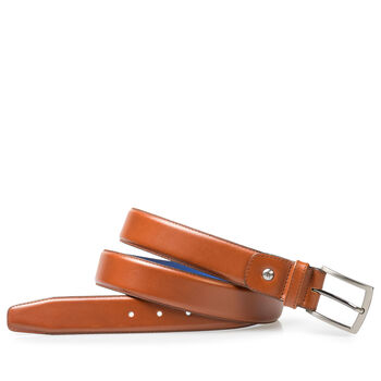 Belt calf leather cognac
