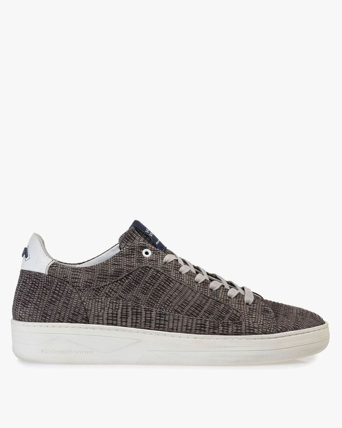 Sneaker mit Print taupe